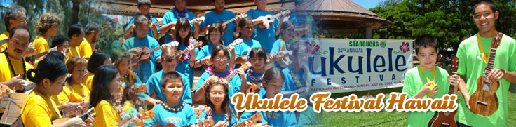 Images of the Annual Ukulele Festival in Hawaii